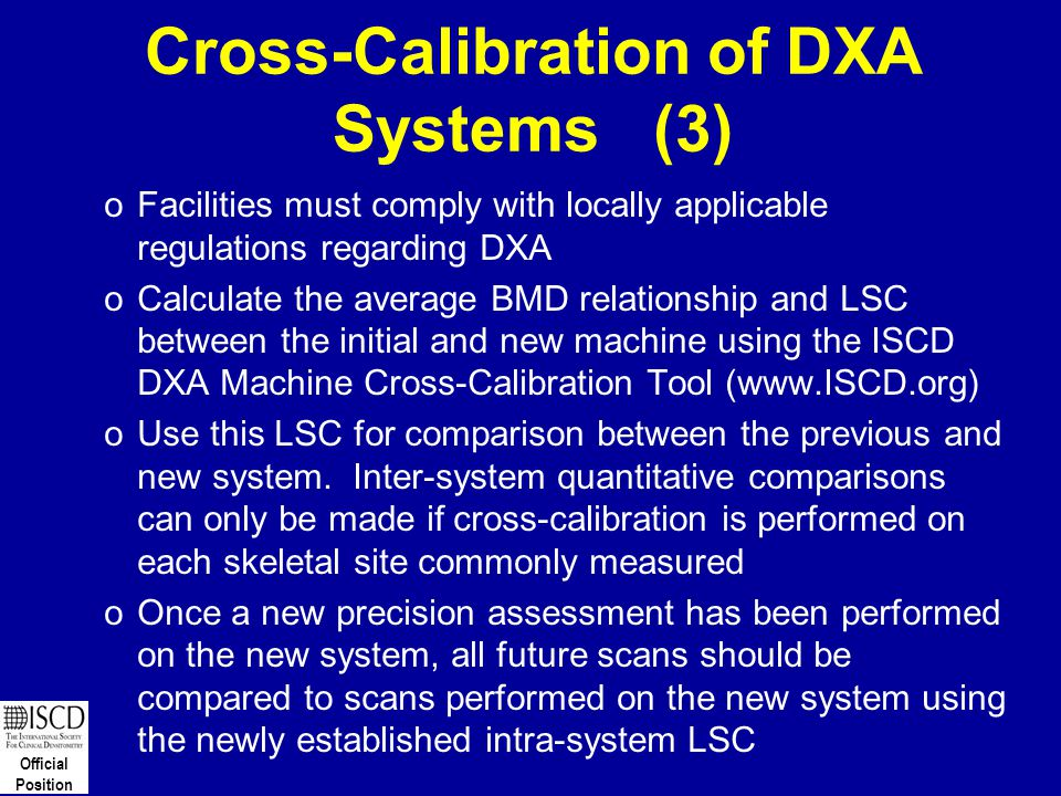 Cross-Calibration of DXA Systems (3)