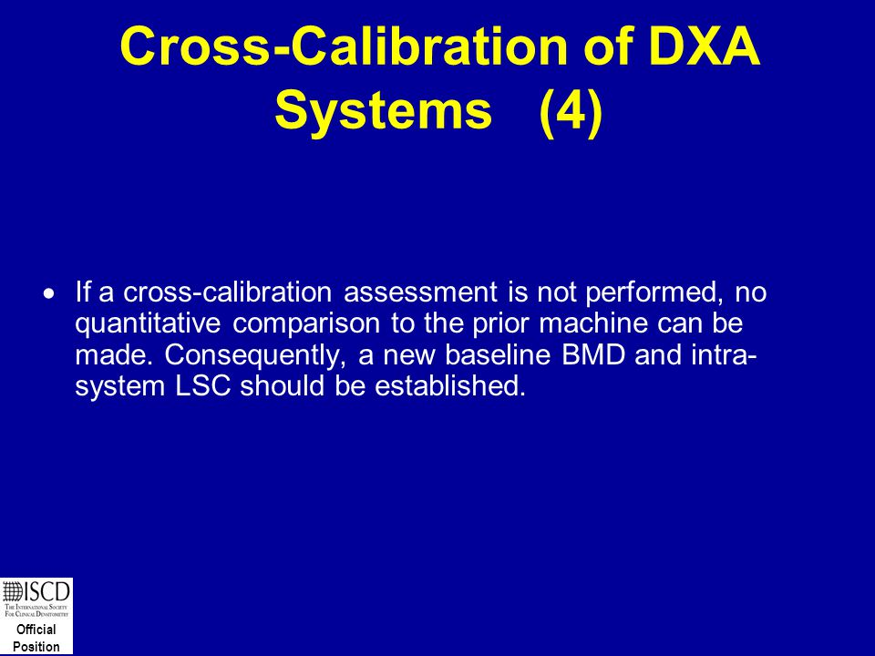 Cross-Calibration of DXA Systems (4)