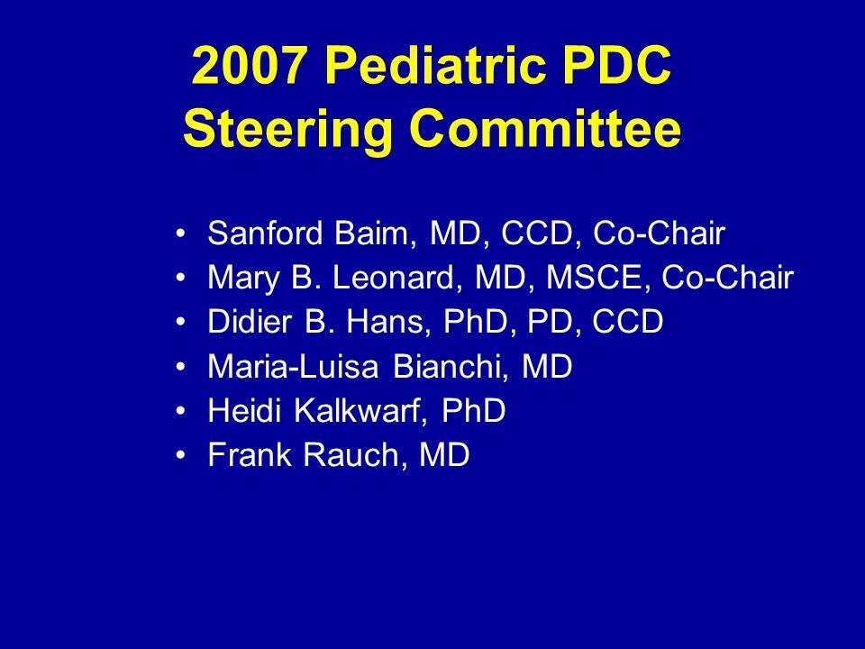 2007 Pediatric PDC Steering Committee