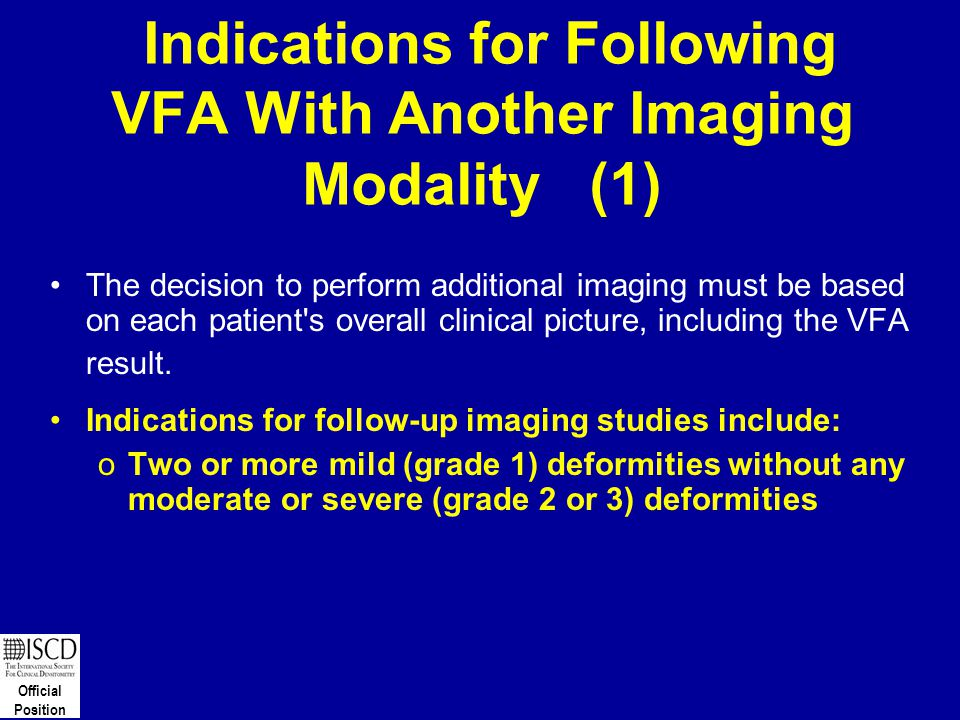 Indications for Following VFA With Another Imaging Modality (1)