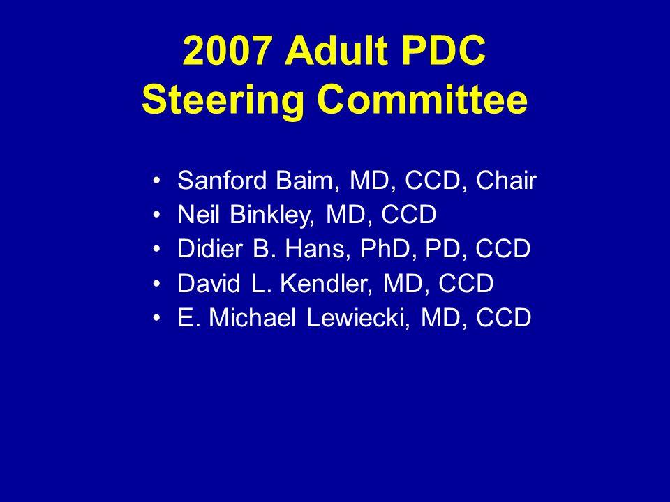 2007 Adult PDC Steering Committee