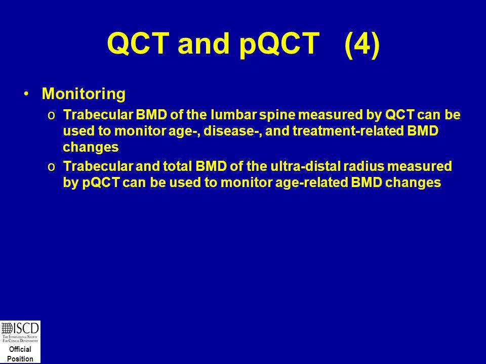 QCT and pQCT (4) Monitoring