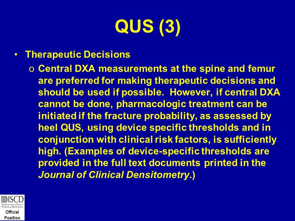 QUS (3) Therapeutic Decisions