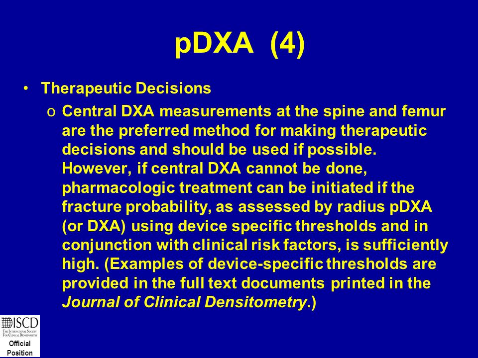 pDXA (4) Therapeutic Decisions