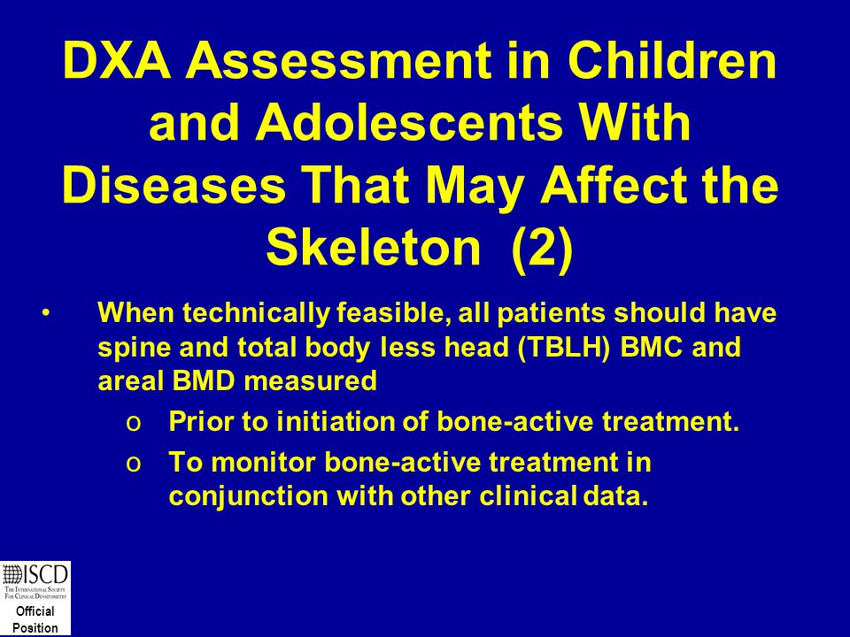DXA Assessment in Children and Adolescents With Diseases That May Affect the Skeleton (2)