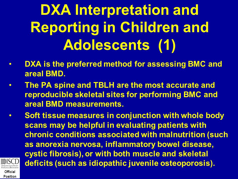 DXA Interpretation and Reporting in Children and Adolescents (1)