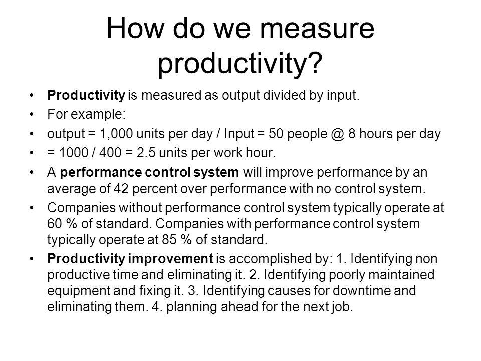 How do we measure productivity