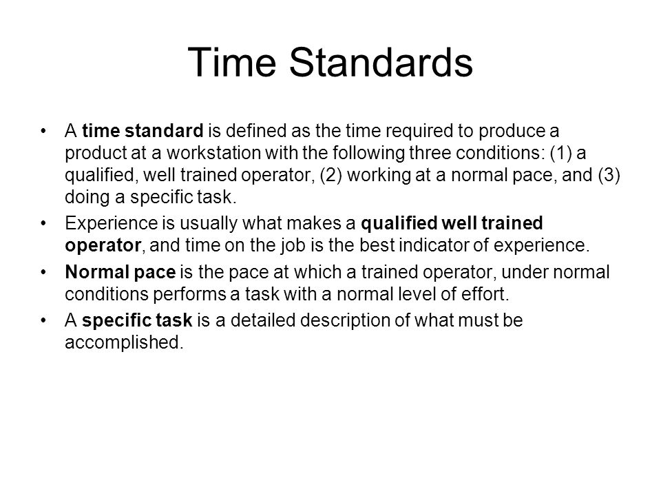 Time Standards