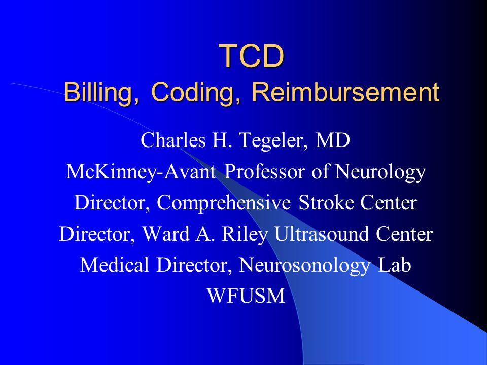 TCD Billing, Coding, Reimbursement