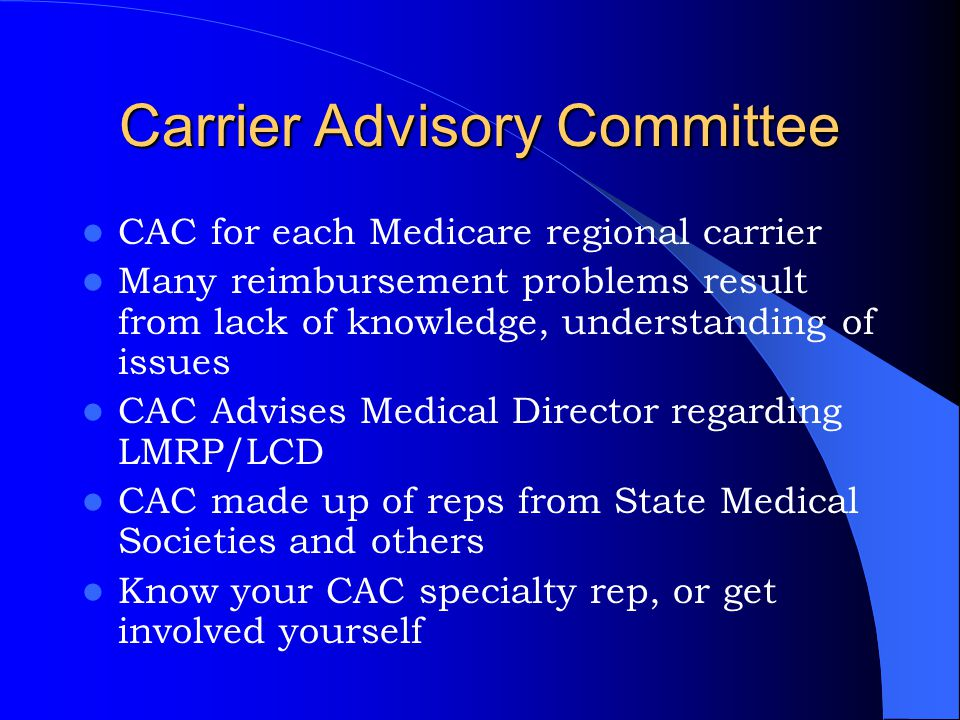 Carrier Advisory Committee