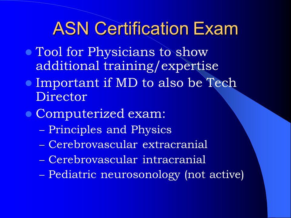ASN Certification Exam