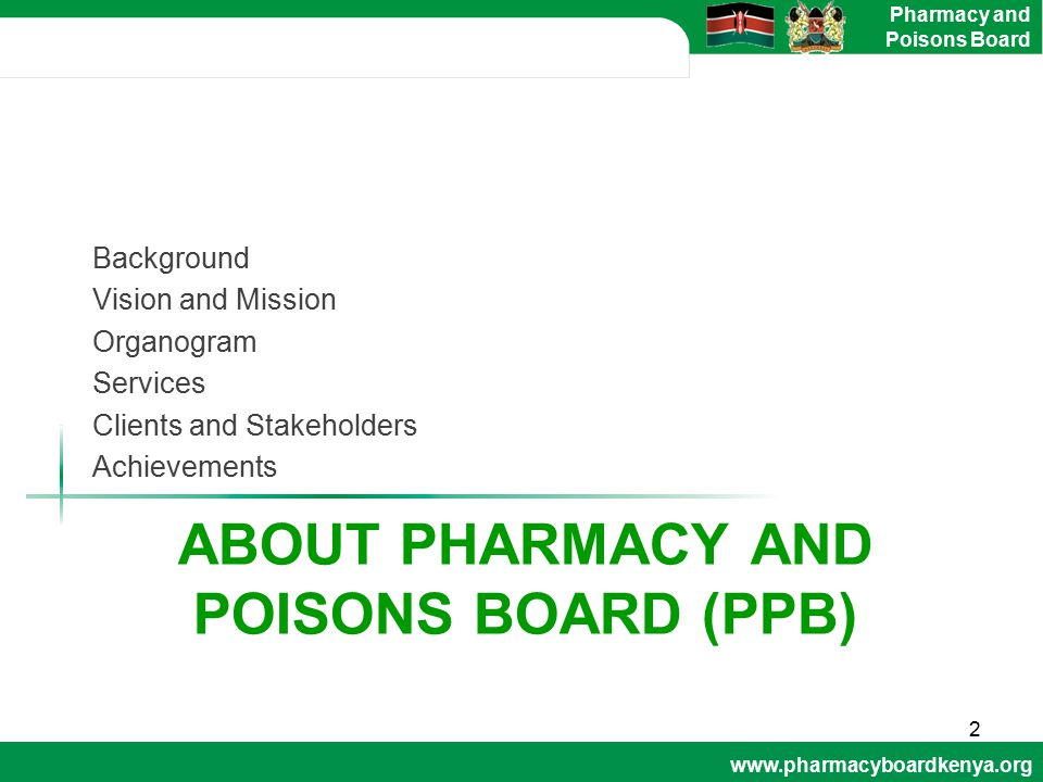 About pharmacy and poisons board (ppb)