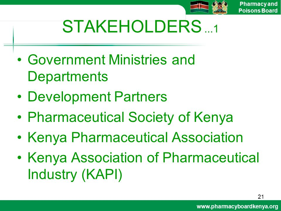 STAKEHOLDERS ...1 Government Ministries and Departments