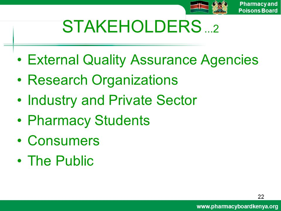 STAKEHOLDERS ...2 External Quality Assurance Agencies