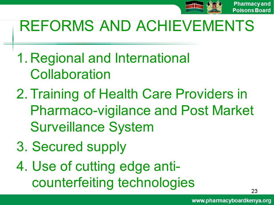 REFORMS AND ACHIEVEMENTS