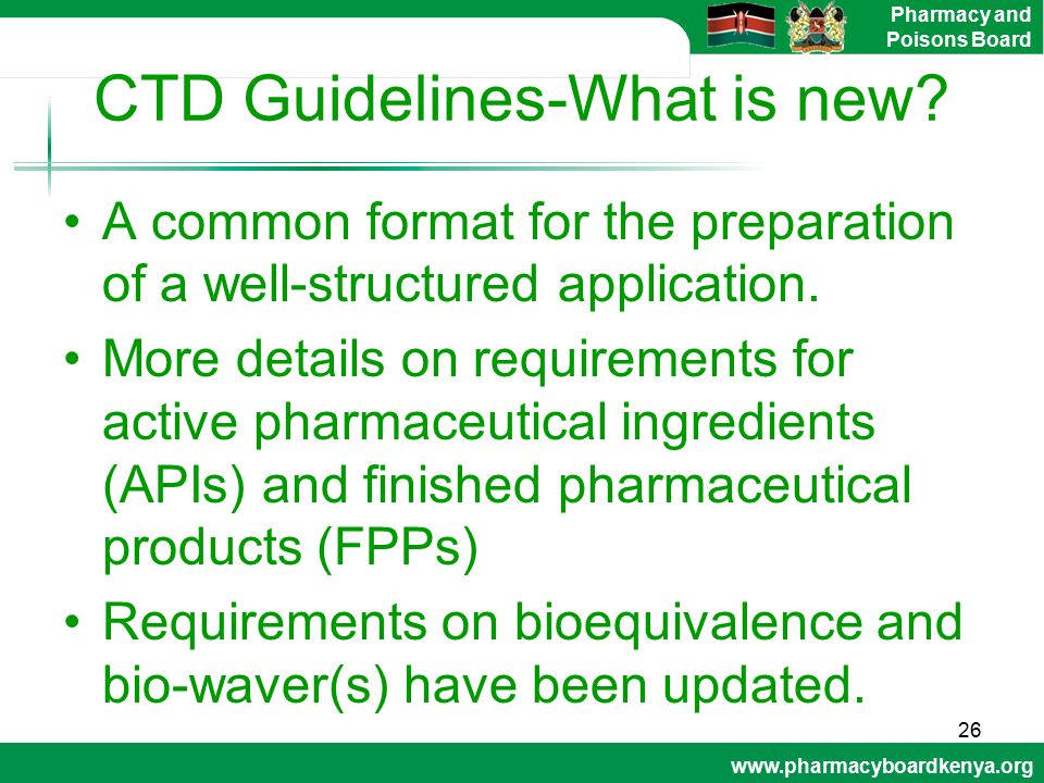 CTD Guidelines-What is new