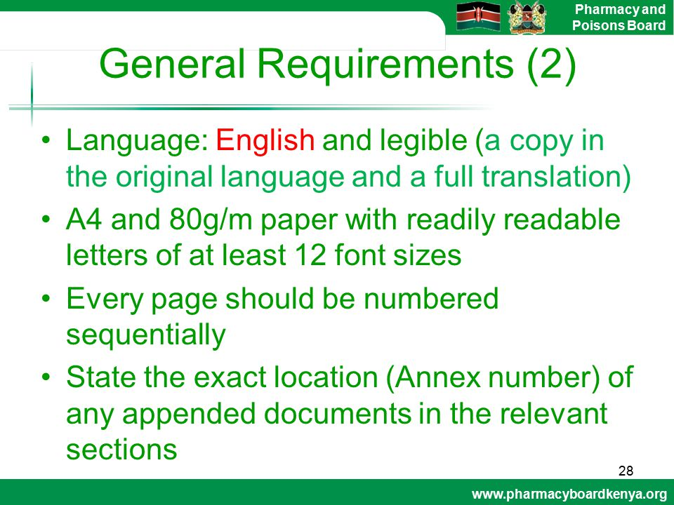 General Requirements (2)