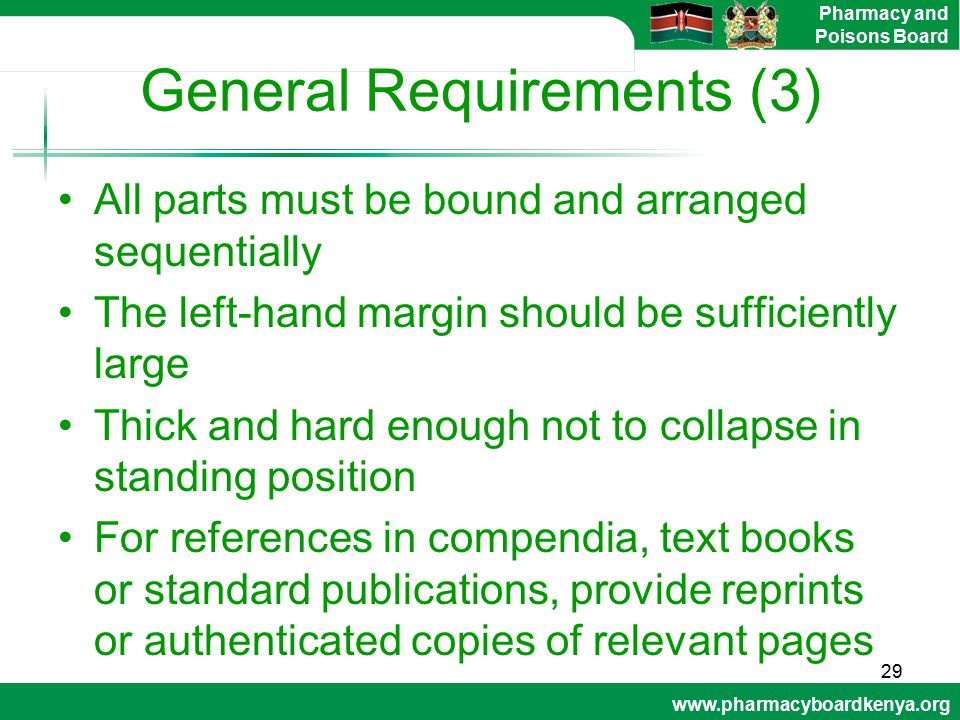 General Requirements (3)