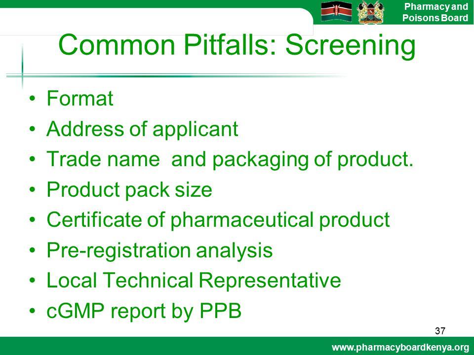 Common Pitfalls: Screening