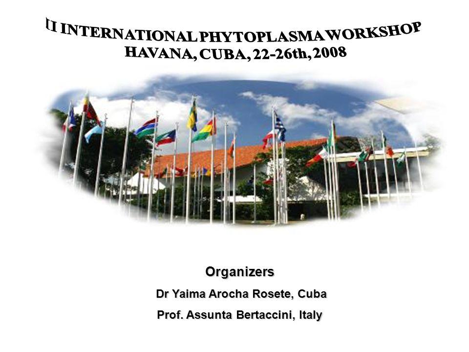 II INTERNATIONAL PHYTOPLASMA WORKSHOP HAVANA, CUBA, 22-26th, 2008