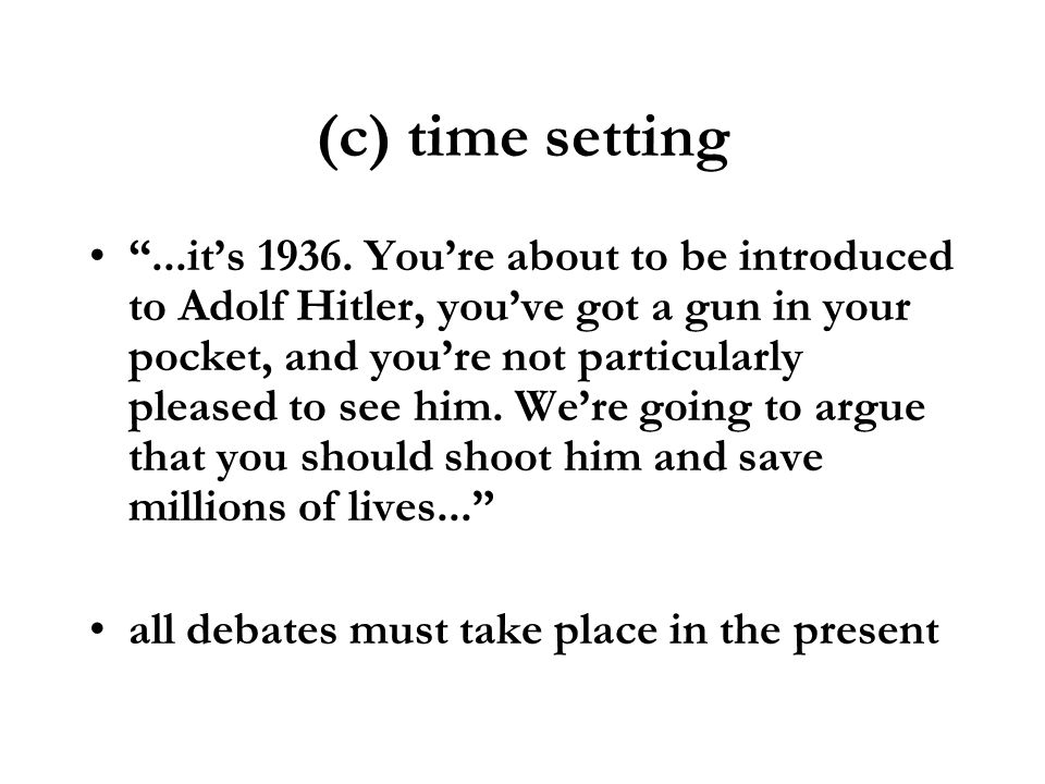 (c) time setting