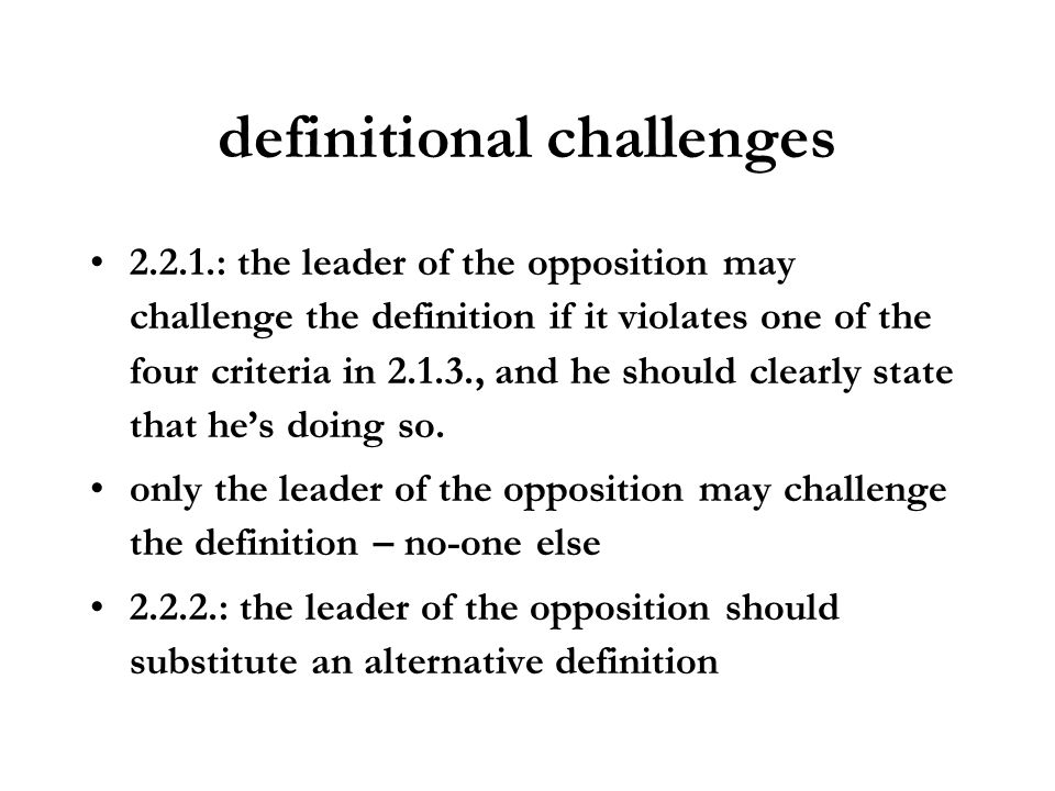definitional challenges