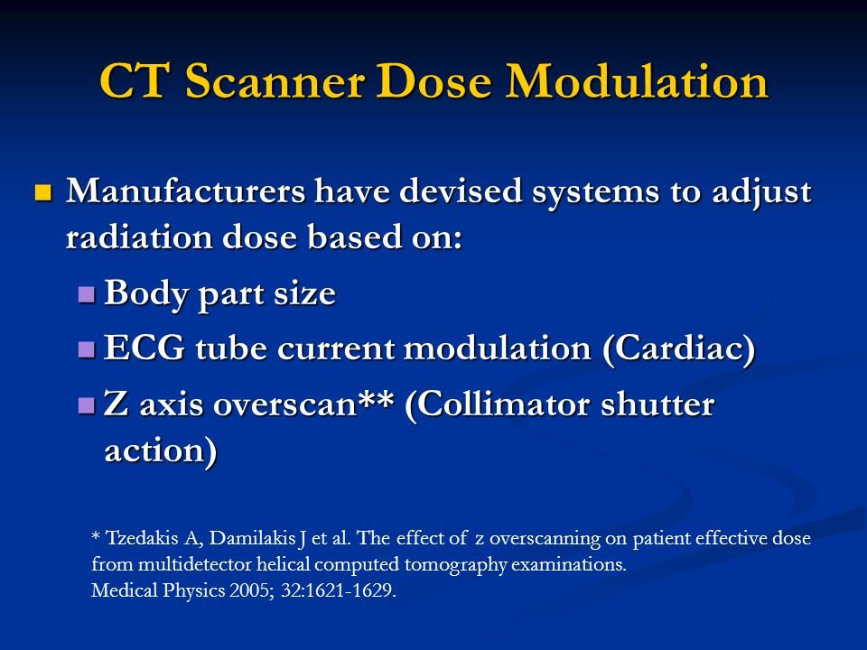 CT Scanner Dose Modulation