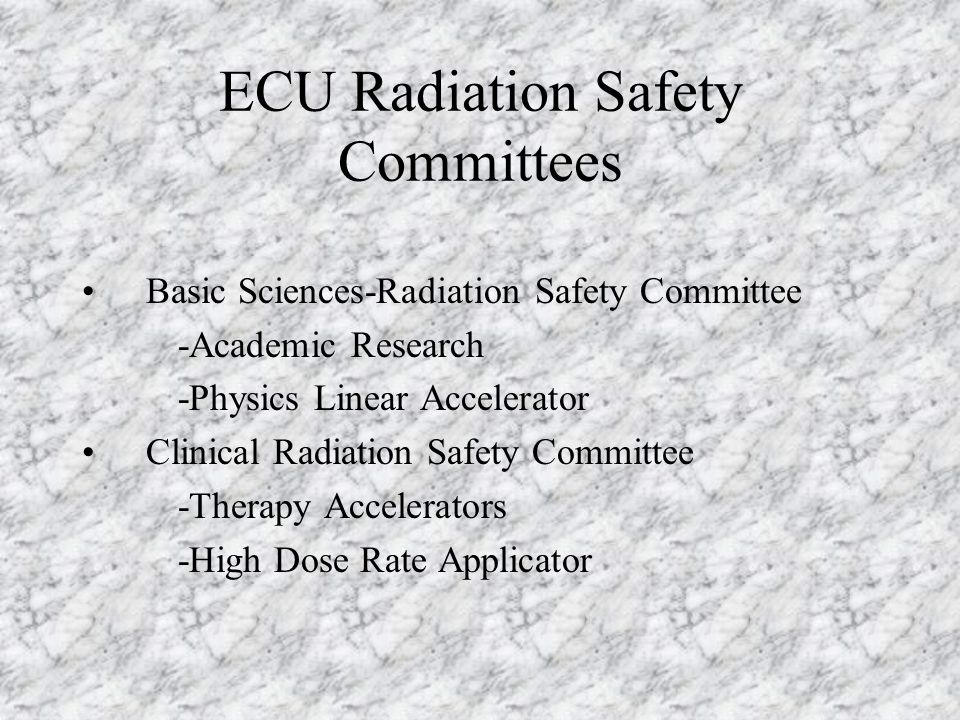 ECU Radiation Safety Committees