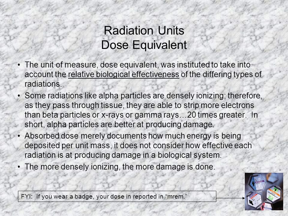 Radiation Units Dose Equivalent