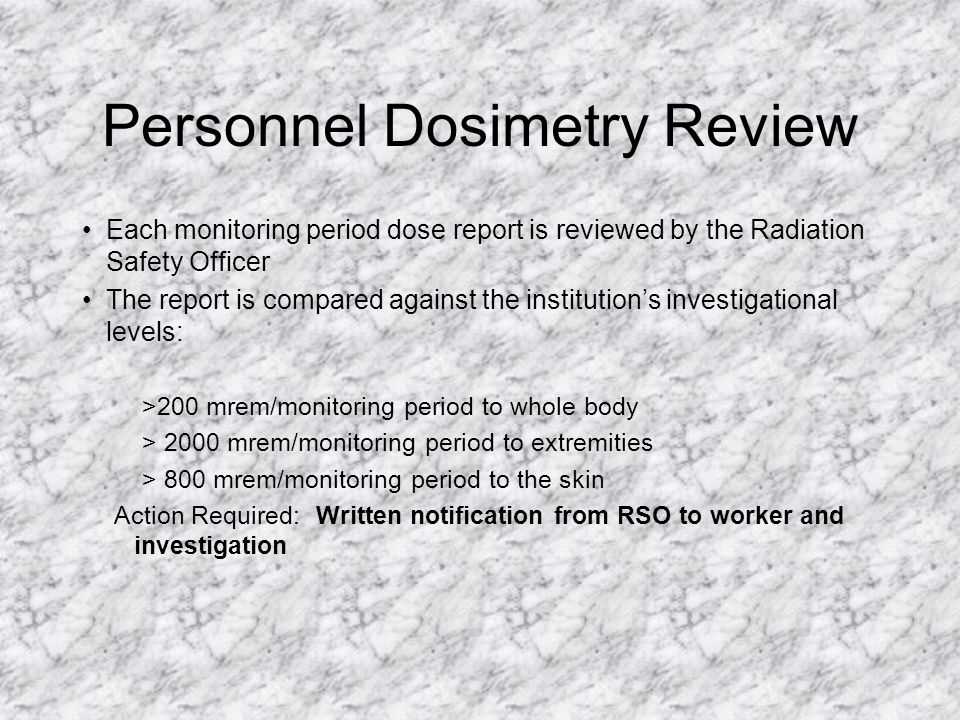 Personnel Dosimetry Review