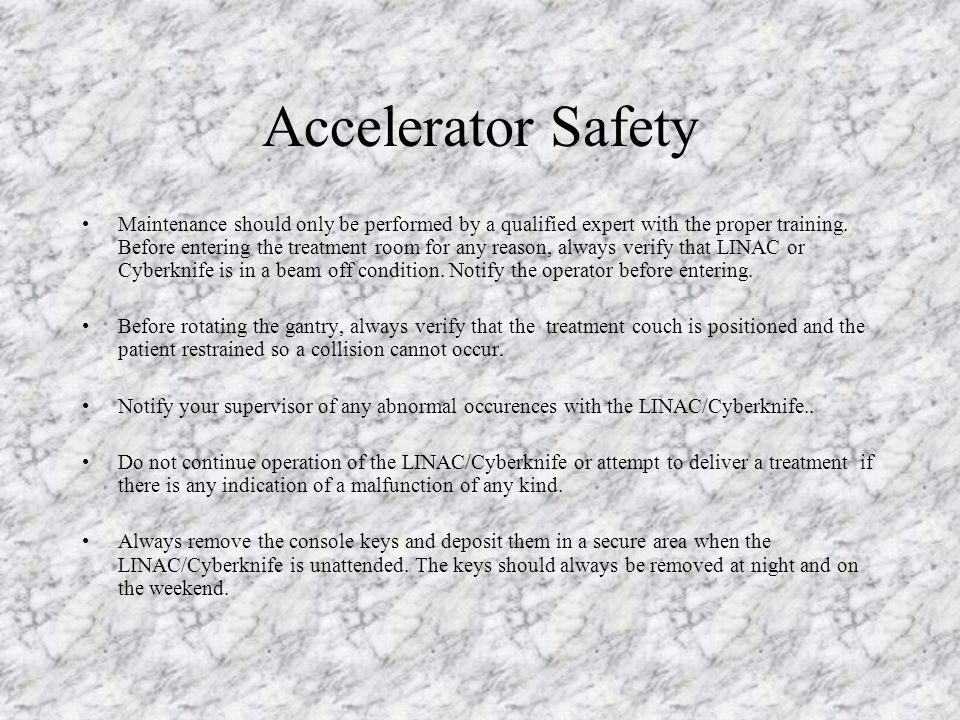 Accelerator Safety