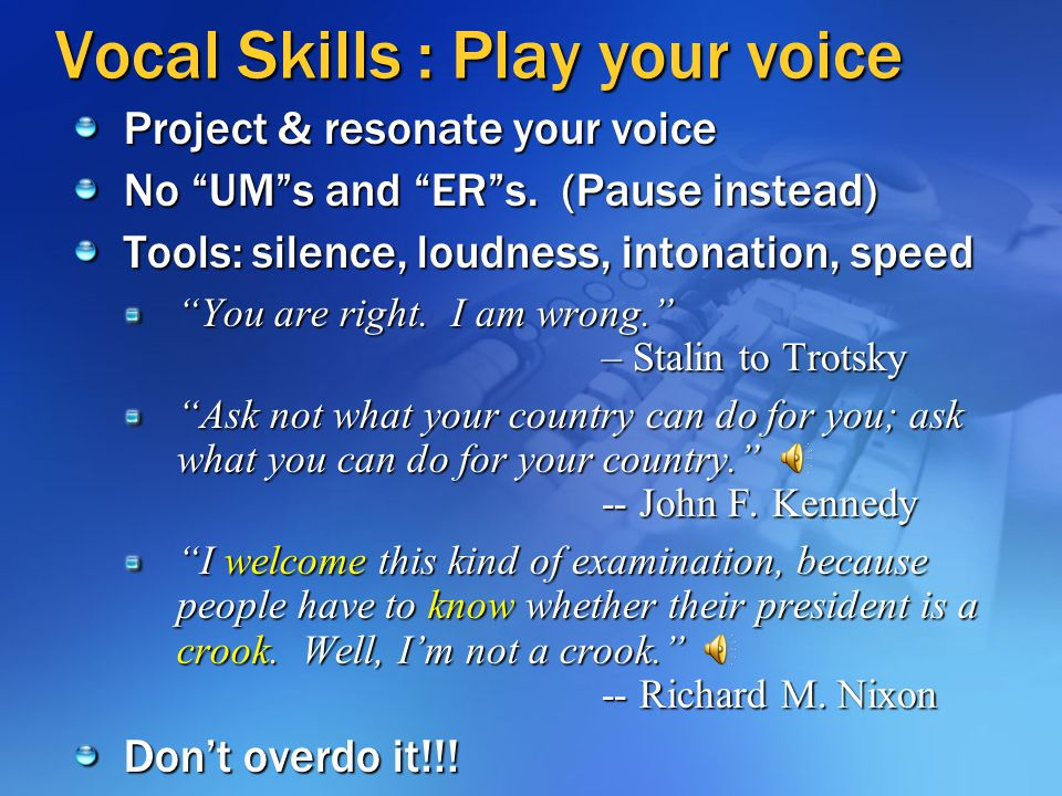Vocal Skills : Play your voice