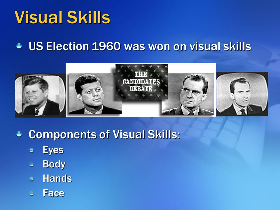 Visual Skills US Election 1960 was won on visual skills