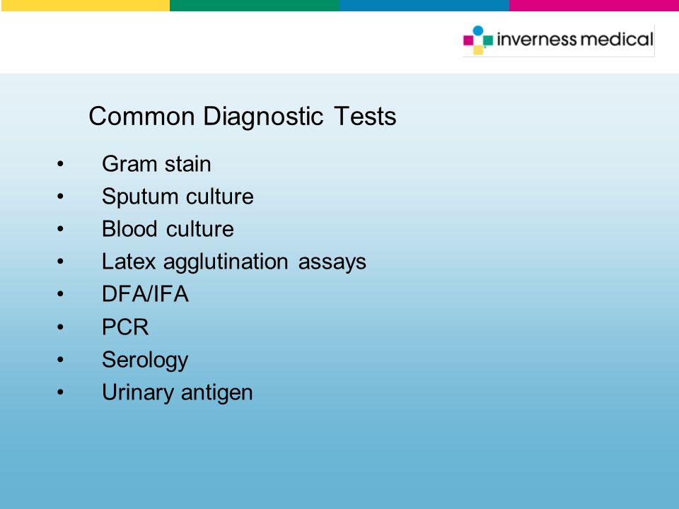 Common Diagnostic Tests