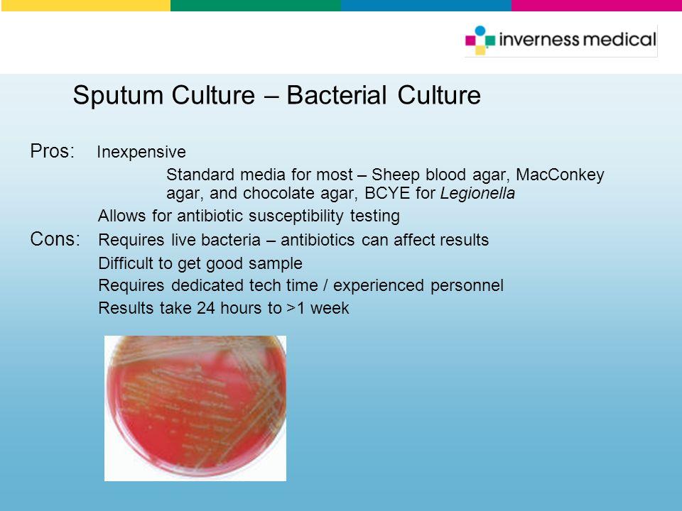 Sputum Culture – Bacterial Culture
