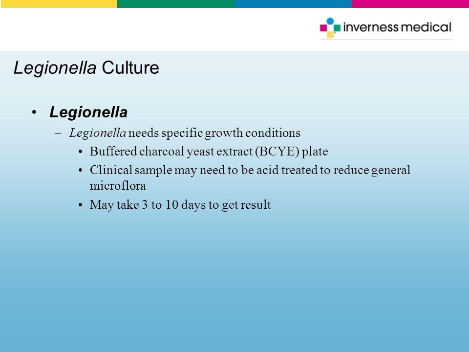 Legionella Culture Legionella