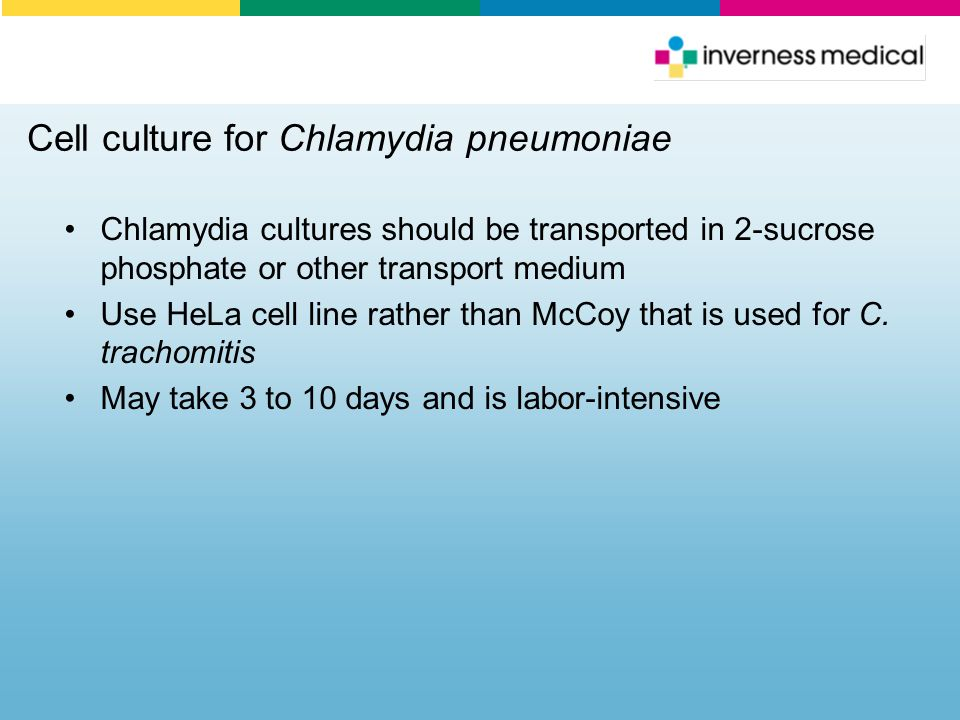 Cell culture for Chlamydia pneumoniae