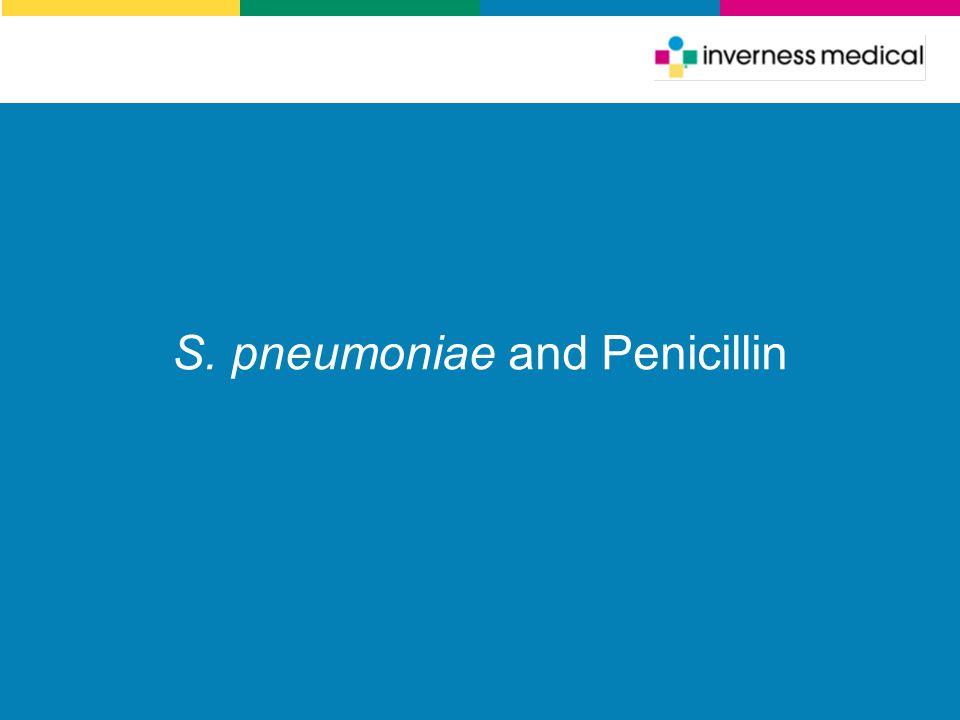 S. pneumoniae and Penicillin