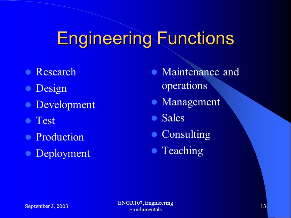 Engineering Functions
