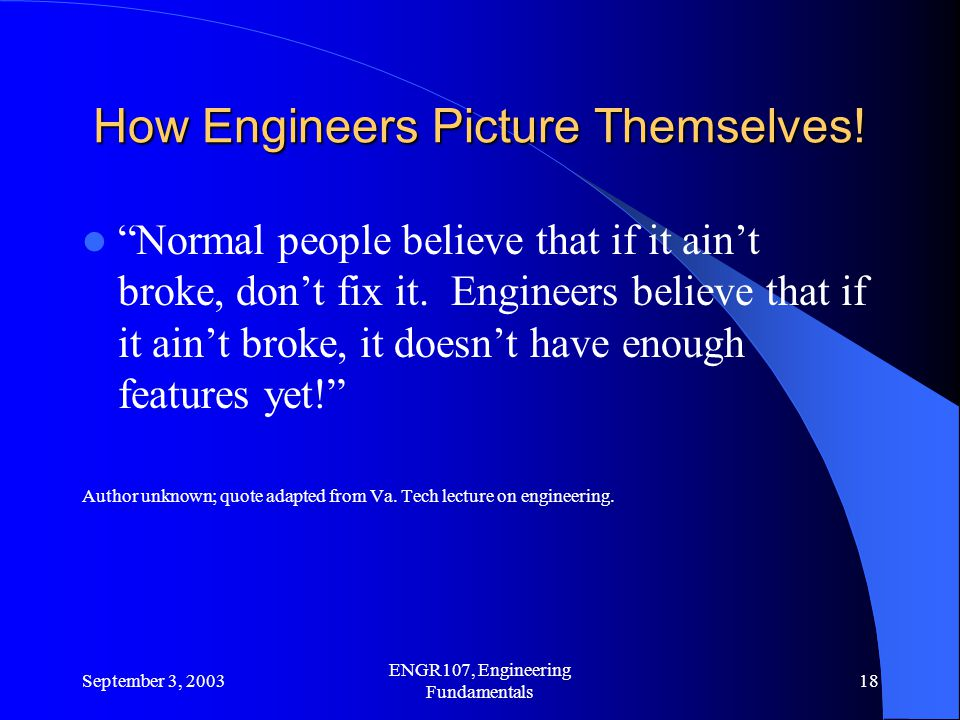 How Engineers Picture Themselves!