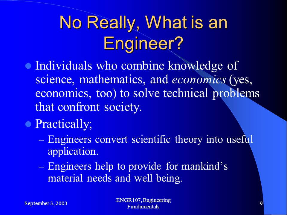 No Really, What is an Engineer