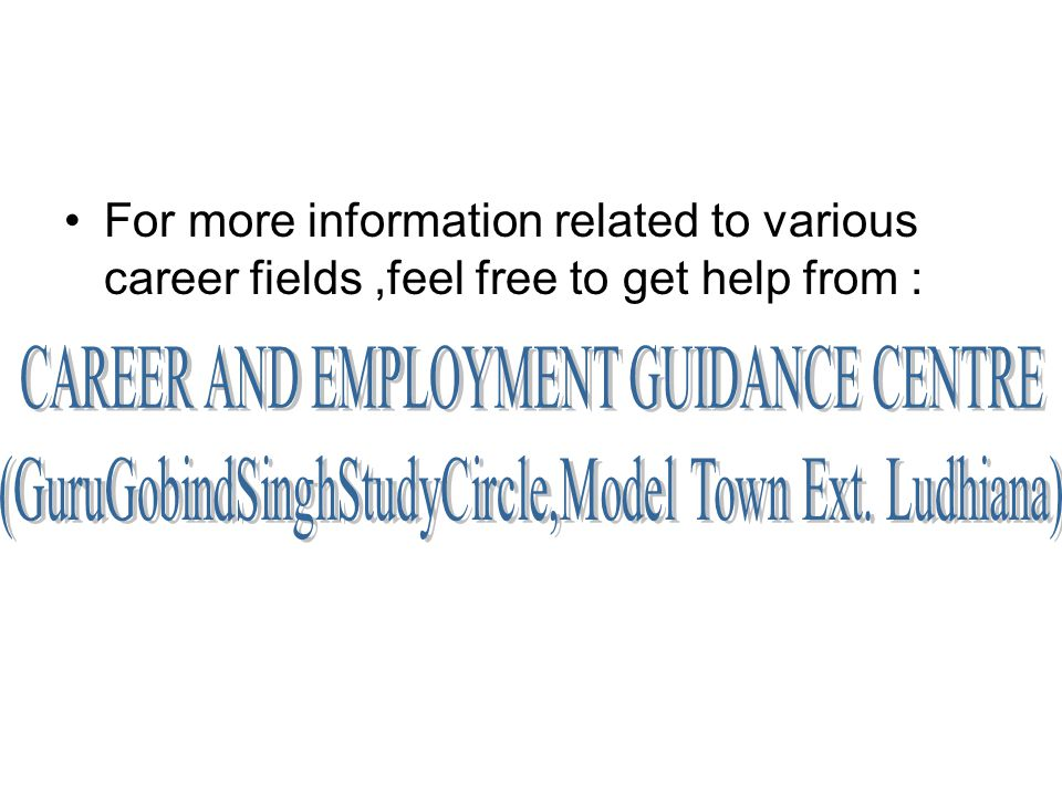 CAREER AND EMPLOYMENT GUIDANCE CENTRE