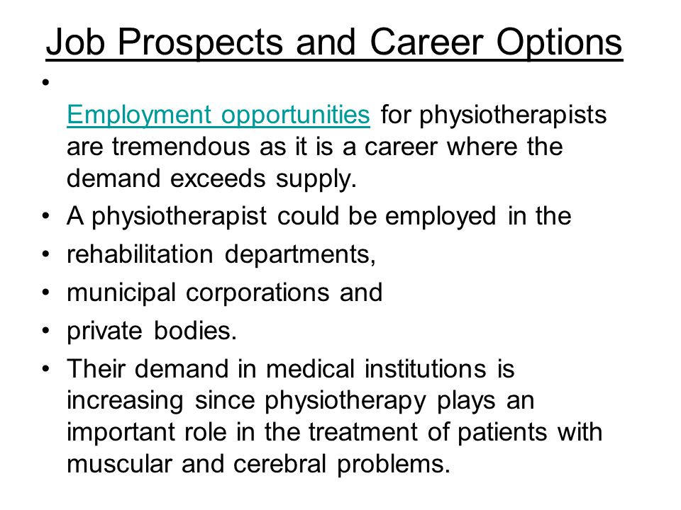 Job Prospects and Career Options