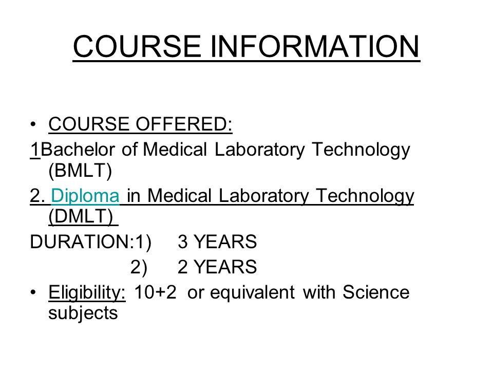 COURSE INFORMATION COURSE OFFERED:
