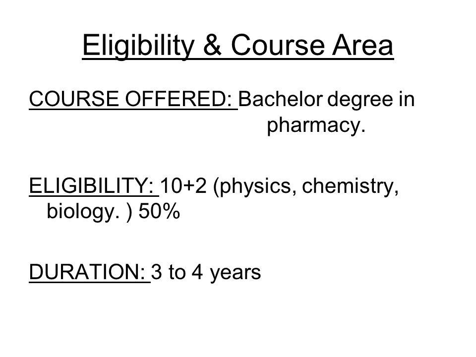 Eligibility & Course Area