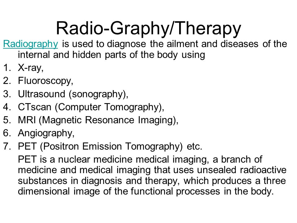 Radio-Graphy/Therapy