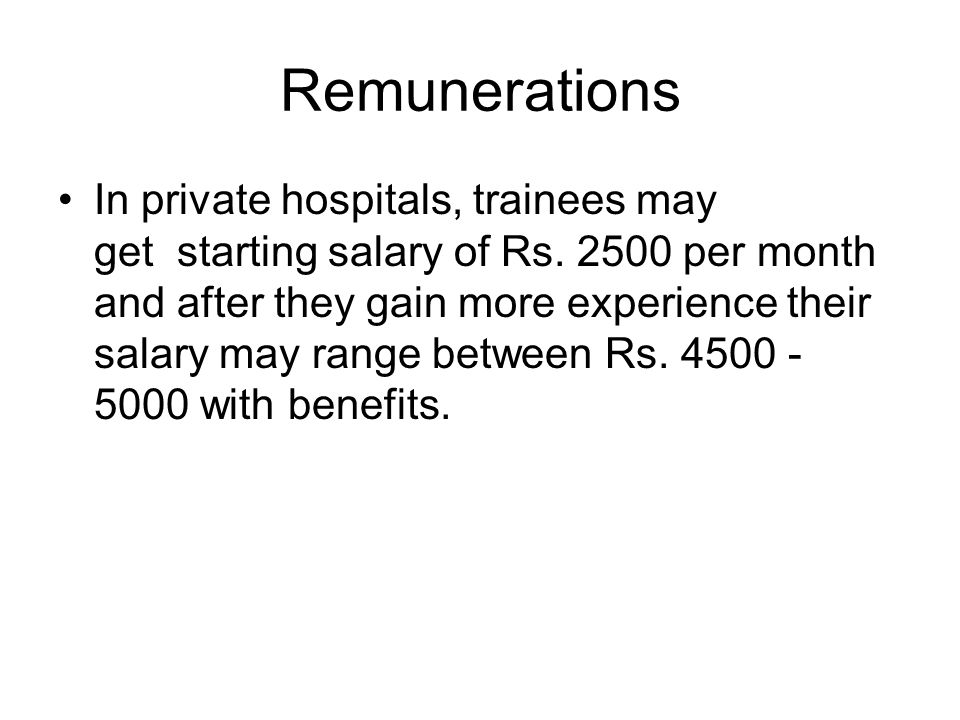 Remunerations