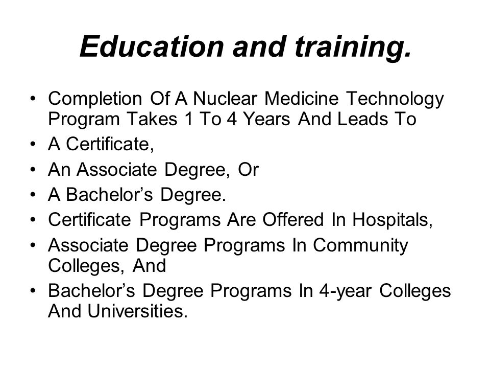Education and training.