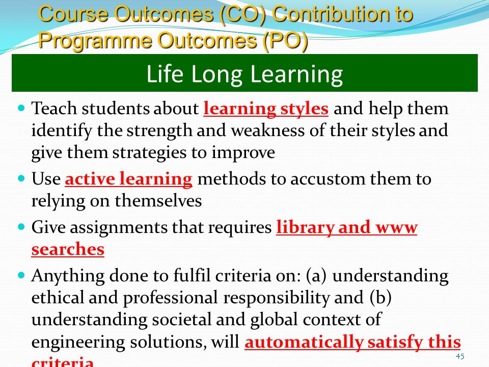 Course Outcomes (CO) Contribution to Programme Outcomes (PO)