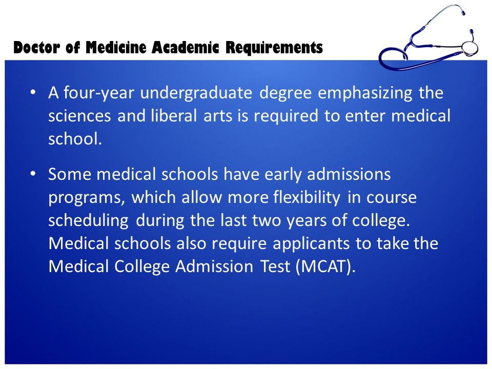 Doctor of Medicine Academic Requirements